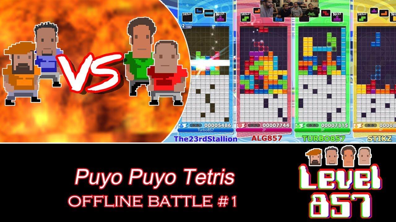 It's A 4-player Tetris Extravaganza!  [Puyo Puyo Tetris – Offline Battle #1]